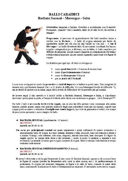 Bachata Sensual e Kizomba: corso di ballo a cura di Luisa Fornasiero