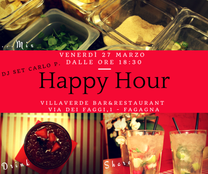 Happy Hour al Villaverde Bar&Restaurant