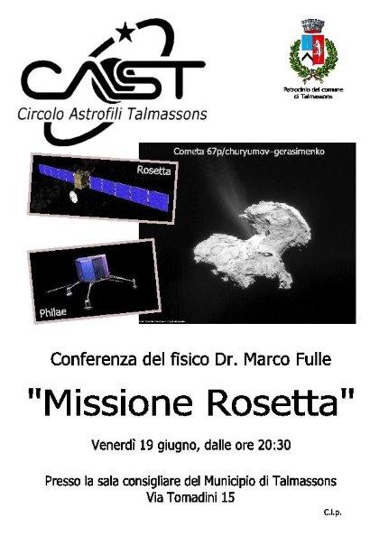 La missione Rosetta. Una conferenza con l'astronomo Marco Fulle