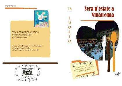 Sera d'estate a Villafredda