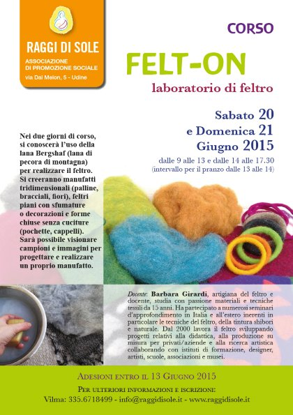 FELT-ON   Laboratorio di Feltro con Barbara Girardi