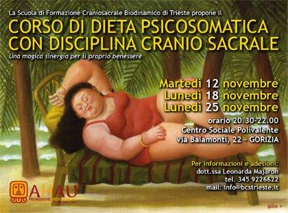 CORSO DIETA PSICOSOMATICA con DISCIPLINA CRANIOSACRALE