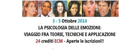 Seminario La Psicologia delle Emozioni. Viaggio fra Teorie, Tecniche e Applicazioni