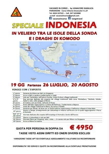 INDONESIA - ISOLE DELLA SONDA E DRAGHI DI COMODO