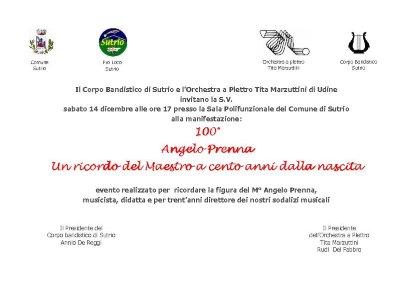 100° Angelo Prenna - Un ricordo del Maestro a cent'anni dalla nascita