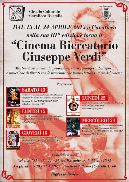"""III° edizione """"CINEMA RICREATORIO Giuseppe Verdi"""""""