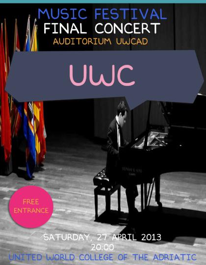"""Concerto finale dei Corsi di Musica del """"Collegio del Mondo Unito dell'Adriatico"""""""