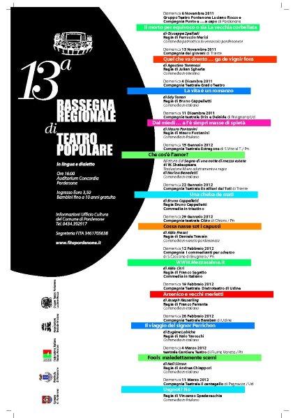 13° Rassegna Regionale di Teatro Popolare