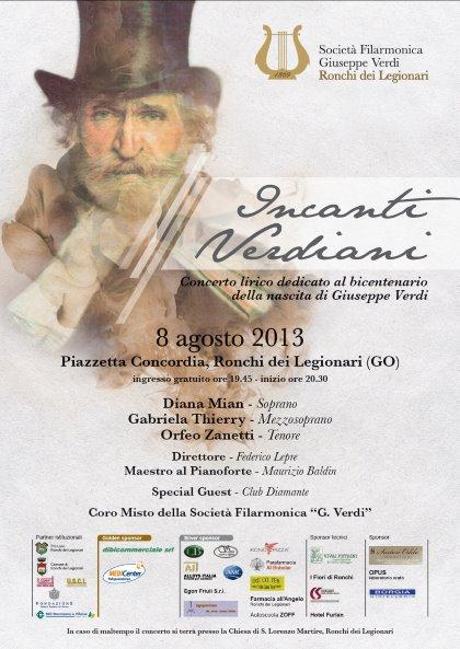 "Concerto lirico ""Incanti Verdiani"" 8 agosto Ronchi dei Leg.(GO)"