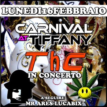 CARNEVALE AL TIFFANY PIERIS LUNEDI' 16 FEBBRAIO
