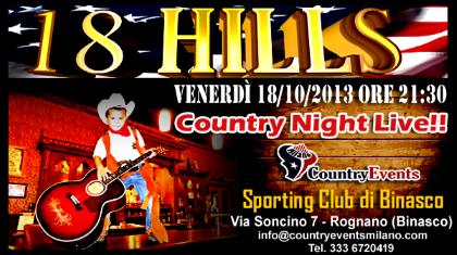 Country Night Live con gli 18 HILLS allo Sporting Club di Binasco