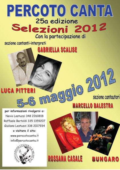 PERCOTO CANTA 2012 -25a Edizione