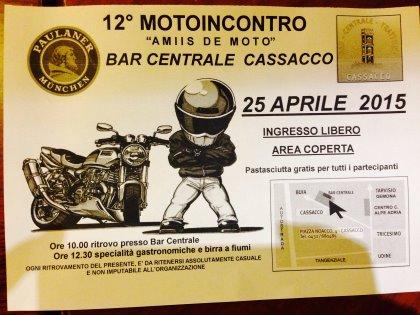 """12° MOTOINCONTRO """"AMIIS DE MOTO"""" BAR CENTRALE CASSACCO"""