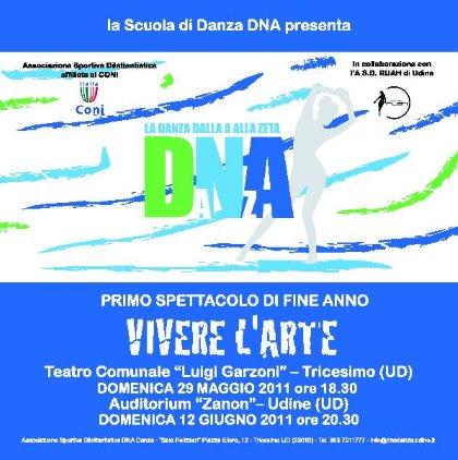 VIVERE L'ARTE SAGGIO FINALE DELLA SCUOLA DI DANZA DNA DI TRICESIMO