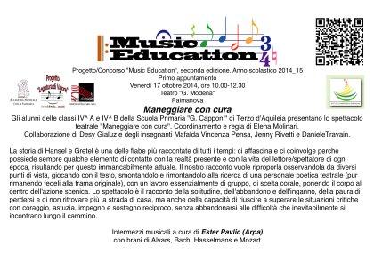 """Progetto/Concorso """"Musci Education"""". Seconda edizione, anno 2014_15"""