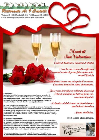 Venerdì 14 Febbraio 2014 - San Valentino