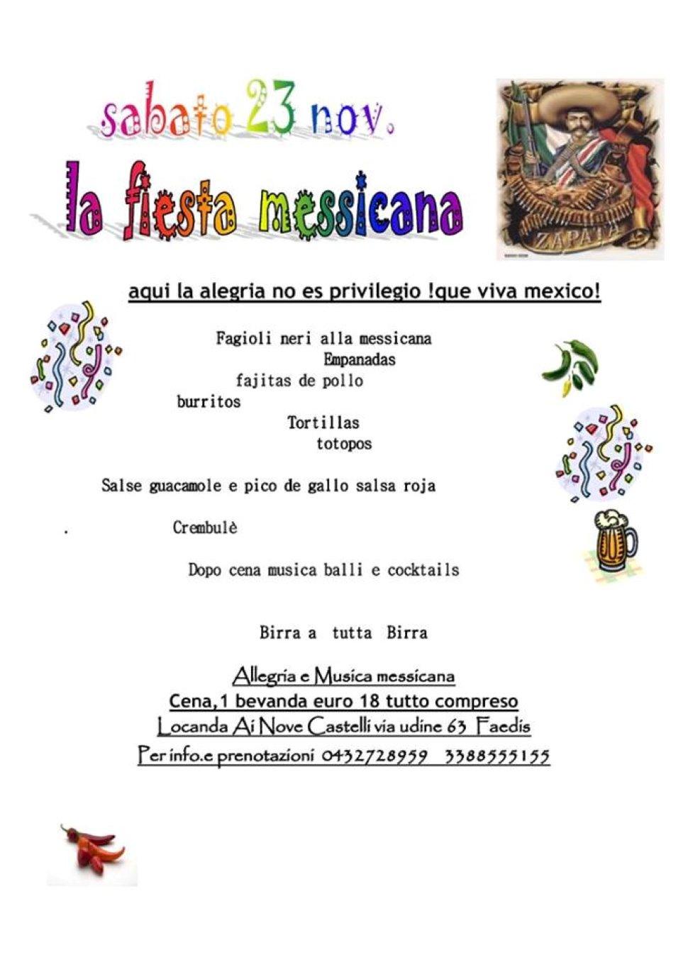 Fiesta messicana con cena e ballo