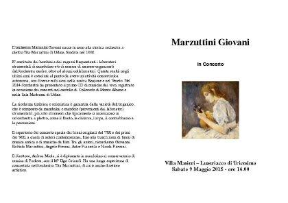 """""""MARZUTTINI Giovani""""    a    Villa Masieri"""