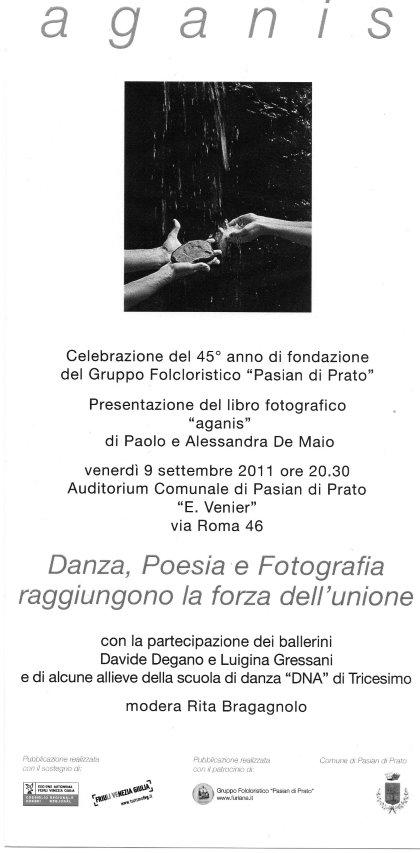 """Presentazione del libro fotografico """"AGANIS"""" di Paolo e Alessandra De Maio"""
