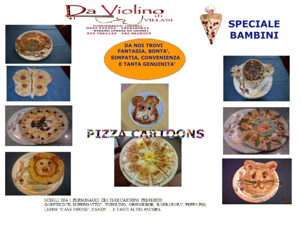PIZZA CARTOONS Speciale BAMBINI