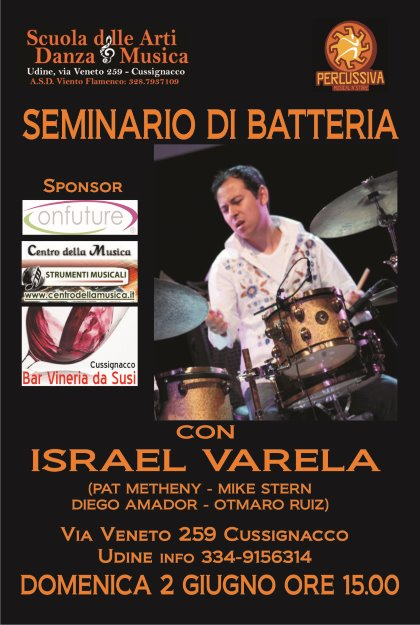 Seminario di Batteria con Israela Varela
