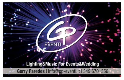 Sorprese e momenti di spettacolo con GP EVENTI Music & Lighting for Events & Wedding.
