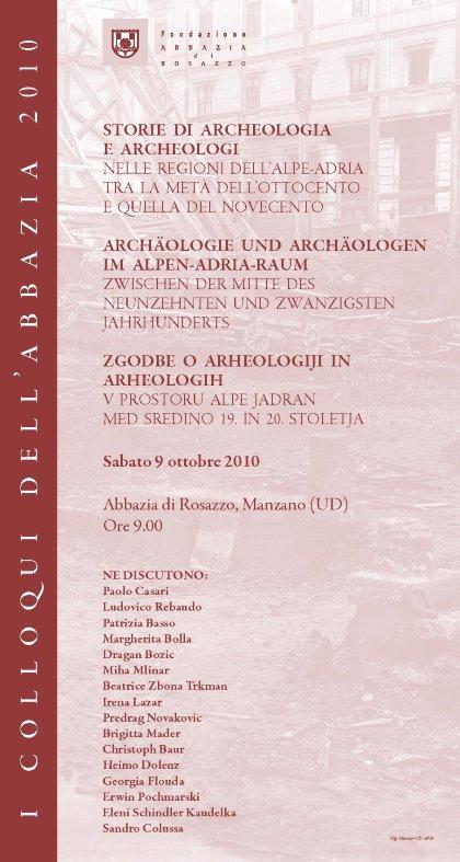 Incontro - I Colloqui dell'Abbazia: Storie di archeologia e archeologi