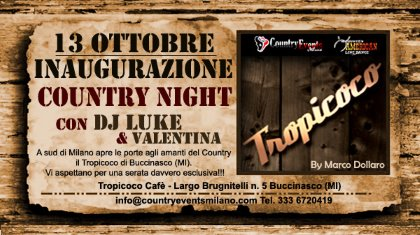 13/10/2012 Country Night al Tropicoco di Buccinasco MI