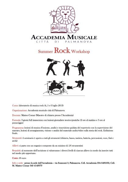 Summer Rock Workshop