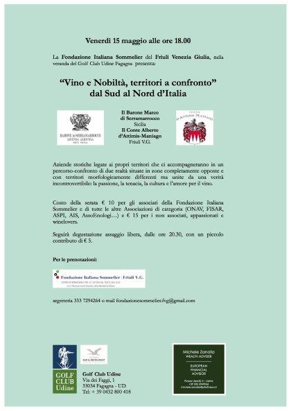 Vino e Nobiltà, territori a confronto. Dal Sud al Nord d'Italia.