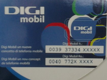 Distributore di DIGI mobil (roaming international).