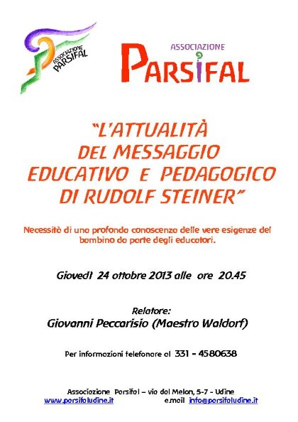 L'attualità del messaggio educativo e pedagogico di Rudolf Steiner