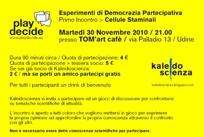 PLAYDECIDE @ TOM'art cafè
