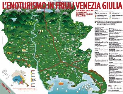 In distribuzione al Vinitaly la prima mappa dedicata all'enoturismo in FVG