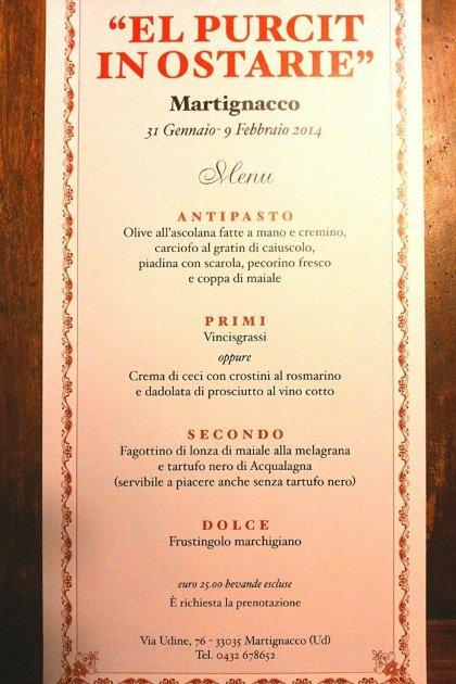 El Purcit in Ostarie @ Trattoria al Picchio