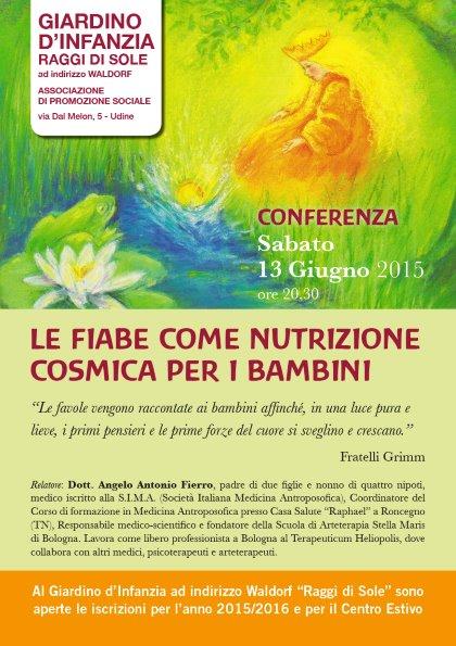 """Conferenza """"LE FIABE COME NUTRIZIONE COSMICA PER I BAMBINI"""""""