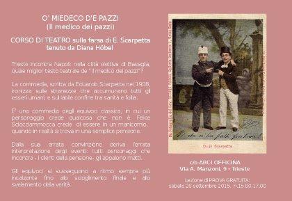 """""""O' MIEDECO D'E PAZZI"""", (IL MEDICO DEI PAZZI) CORSO DI TEATRO SULLA FARSA DI E.SCARPETTA"""