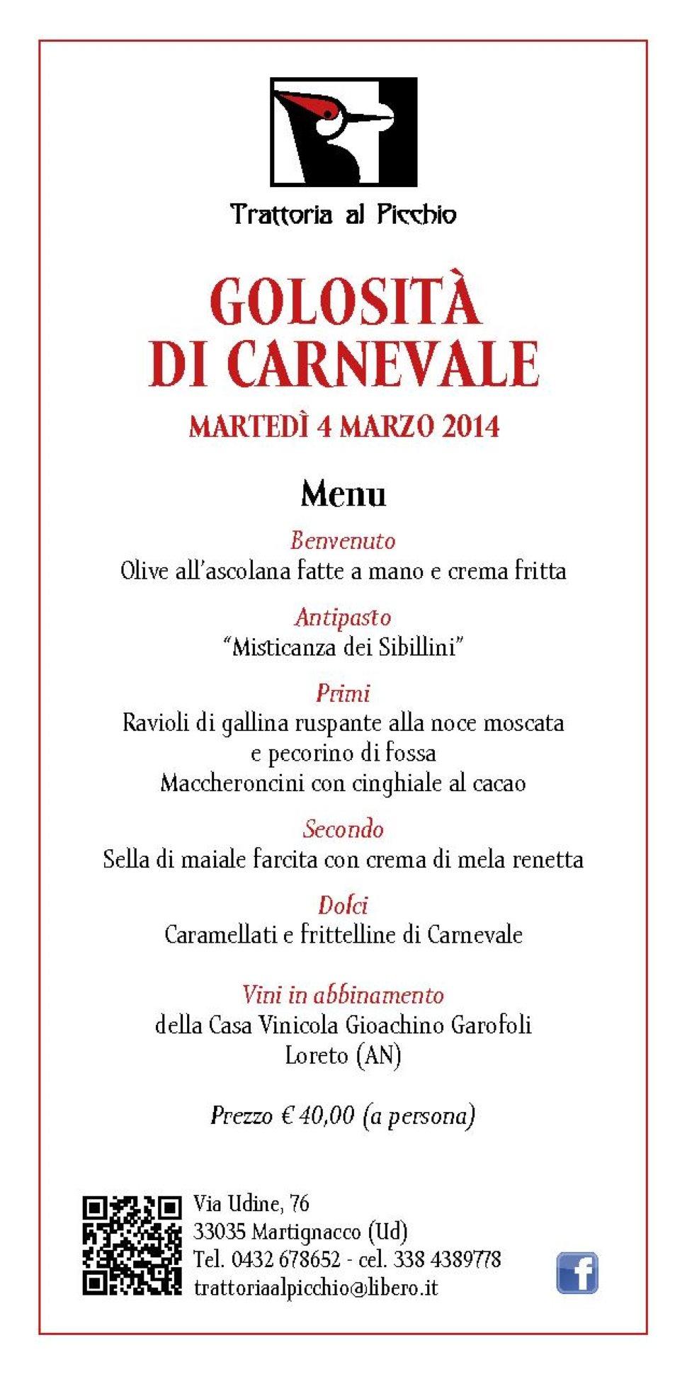 Golosità di Carnevale - Vini Garofoli