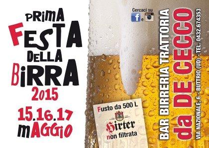 1° festa della birra 2015!