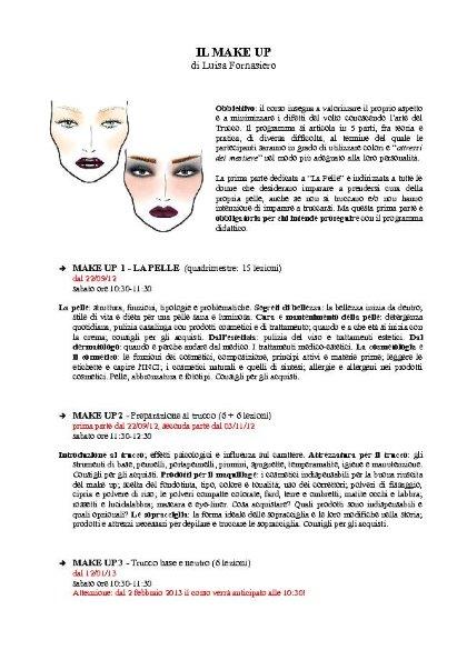 Il Make Up: corso di trucco a cura di Luisa Fornasiero