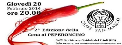 Caffè San Marco - 2° edizione Cena Piccante
