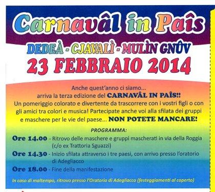 CARNAVAL IN PAIS - 23 febbraio 2014