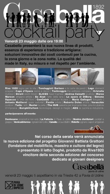 Casabella COCKTAIL PARTY - Presentazione nuova edizione Progetto Giovanni Battista Grattoni