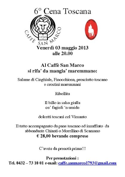 6° Cena Toscana