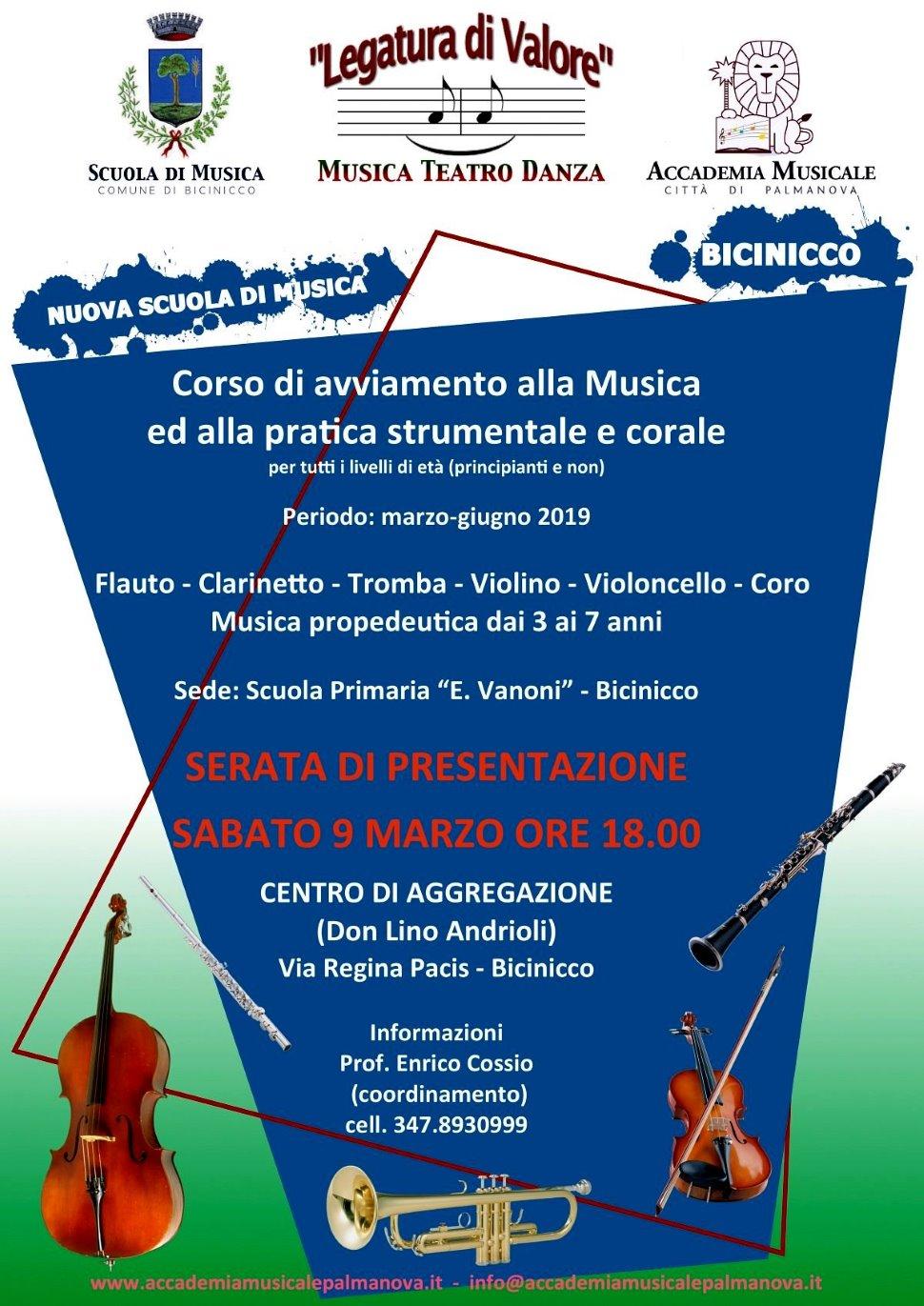 Scuola di musica di Bicinicco. Serata di presentazione.