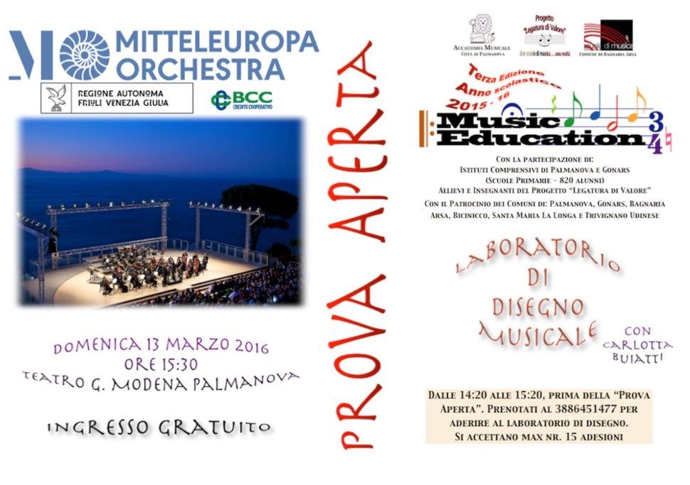 Mitteleuropa Orchestra. Prova Aperta.