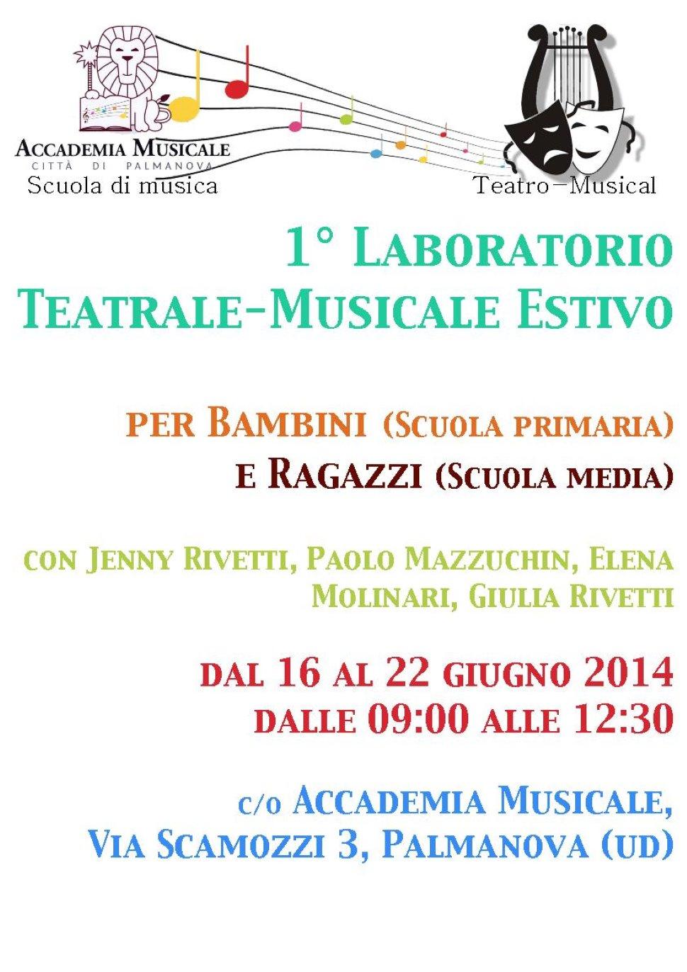 1° Laboratorio teatrale musicale estivo