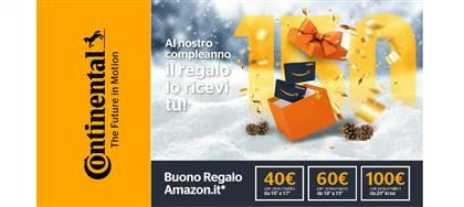 Partecipa alla promozione 150winter! Per i 150 anni di Continental ricevi un buono regalo Amazon. Acquista 4 pneumatici da noi.