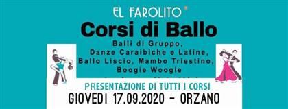 El Farolito - CORSI DI BALLO - Presentazione di tutti i corsi GIOVEDI' 17 SETTEMBRE 2020 alle ore 21:00 ORZANO - UD