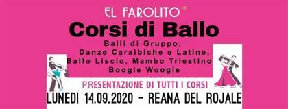 El Farolito - CORSI DI BALLO - Presentazione di tutti i corsi LUNEDI' 14 SETTEMBRE 2020 alle ore 21:00 REANA DEL ROJALE - UD